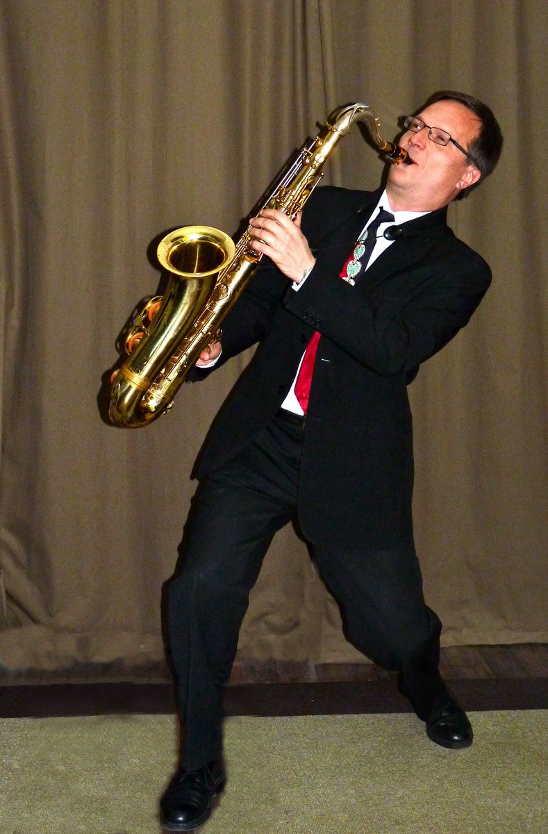 Orchestre jazz swing, saxophone