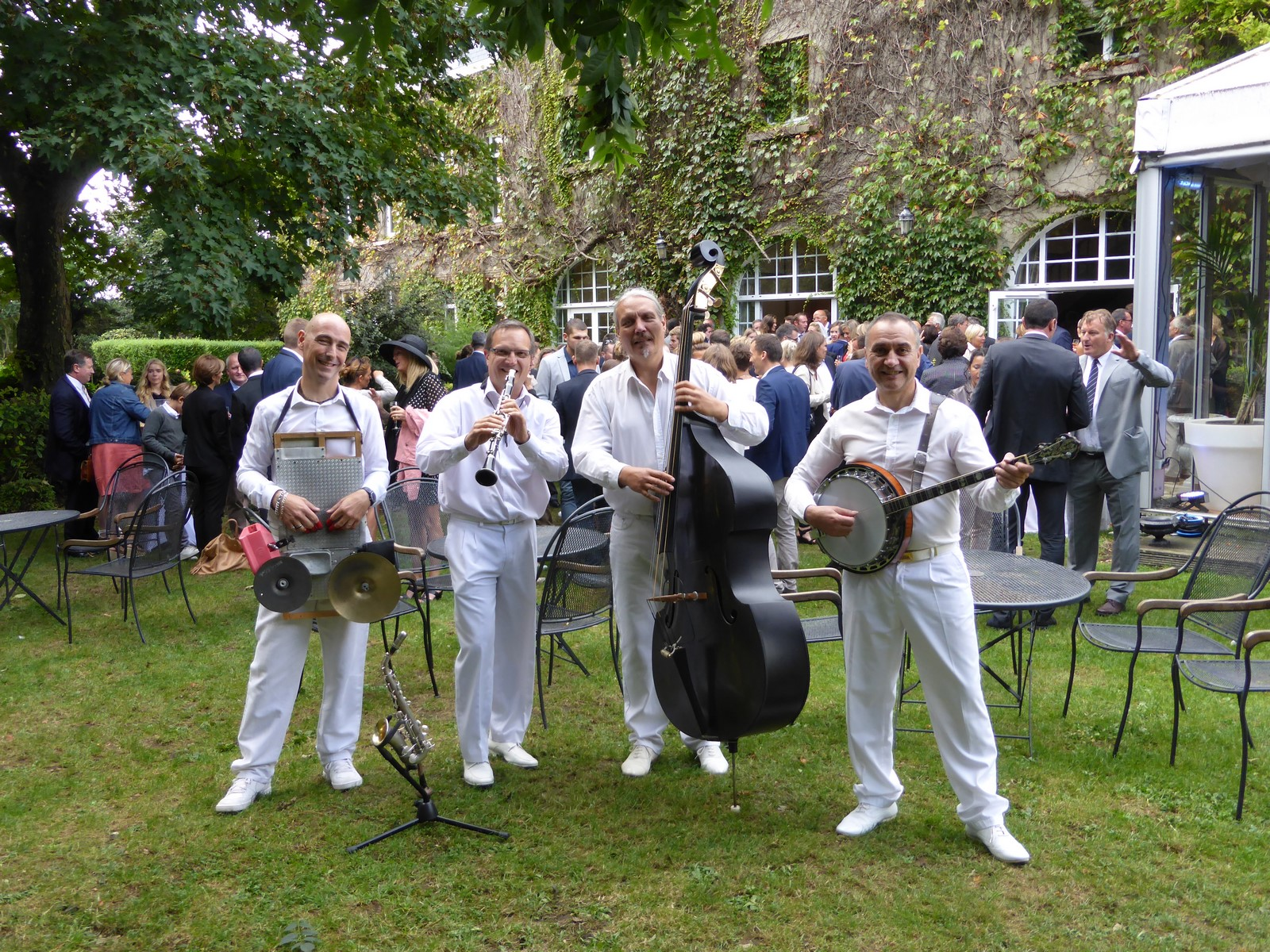 orchestre de jazz dans les jardins de la Matelote