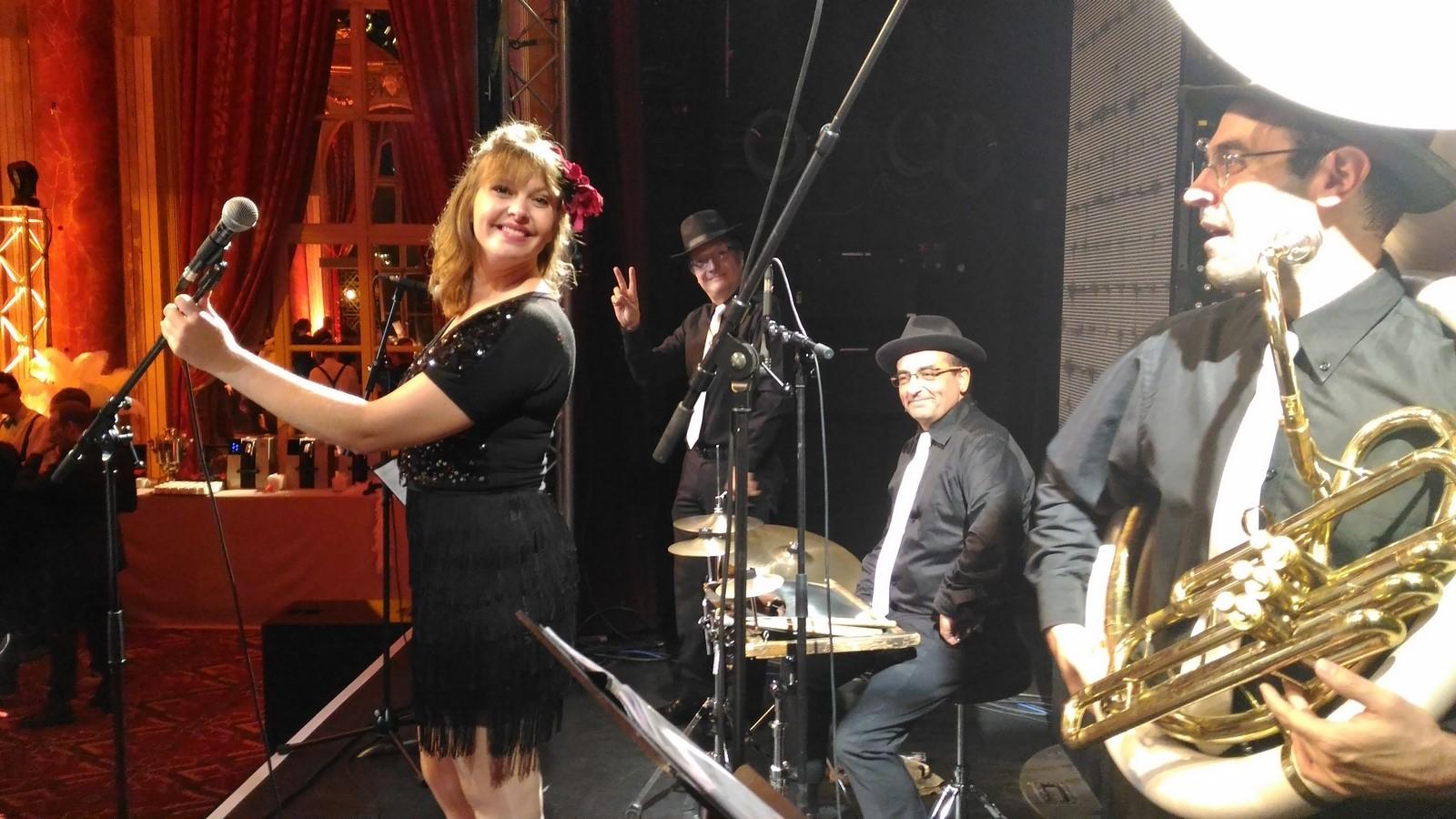 Orchestre de jazz Gatsby années folles au casino de Deauville