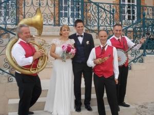 Orchestre jazz mariage accueil des mariés