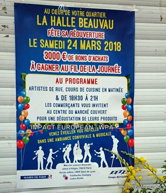 Inauguration de la nouvelle HALLE BEAUVAU avec le groupe jazz et chansons de Paris JAZZ de PARIS
